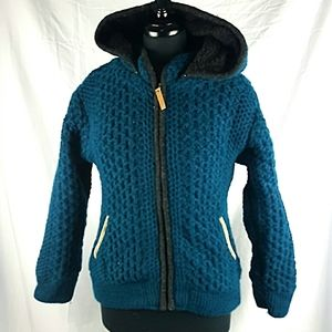 Kyber Lined Wool Hooded Sweater Size Small